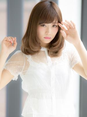 【Euphoria】大人かわいい☆ワンカールふわミディ☆山村