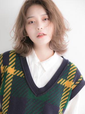【Euphoria】ミルクティーベージュの韓国バング