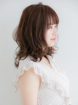 【Euphoria 佐藤】小顔ふんわり外ハネミディ