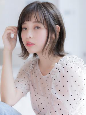 【Euphoria】インナーカラーがかわいい☆シースルーボブ