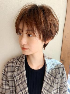 小顔ショート/ワンカールパーマ