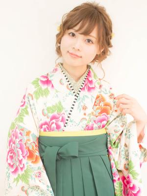 【broto】袴着付+ヘアセット 卒業式パック