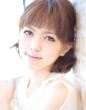 小顔髪型ゆるふわパーマアレンジ~簡単アレンジ(う-037)