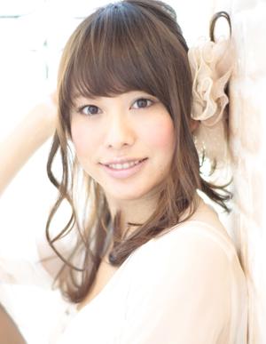小顔髪型ゆるふわパーマアレンジ~簡単アレンジ(う-075)