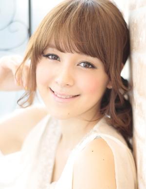 小顔髪型ゆるふわパーマアレンジ~簡単アレンジ(う-083)