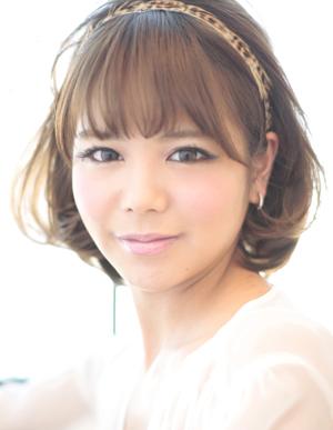 小顔髪型ゆるふわパーマアレンジ~簡単アレンジ(う-087)