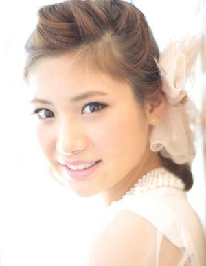 小顔髪型ゆるふわパーマアレンジ~簡単アレンジ(う-091)