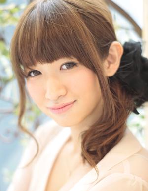 小顔髪型ゆるふわラクラク可愛いアレンジ(え-051)
