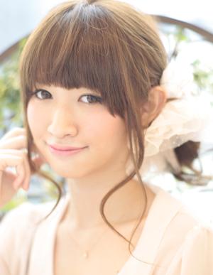 小顔髪型ゆるふわラクラク可愛いアレンジ(え-052)