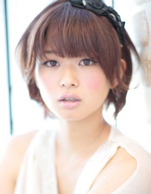 小顔髪型ゆるふわラクラク可愛いアレンジ(え-057)