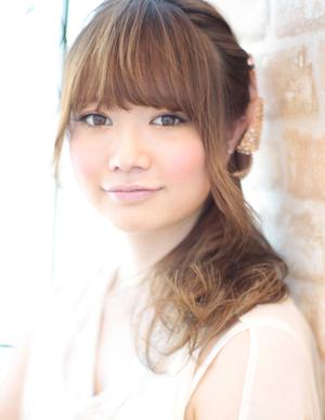 小顔髪型ゆるふわラクラク可愛いアレンジ(え-064)