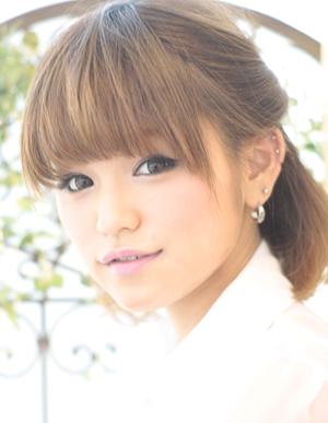 小顔髪型ゆるふわラクラク可愛いアレンジ(え-080)