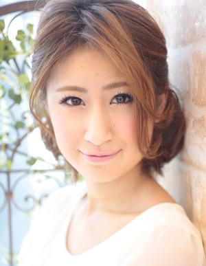 小顔髪型ゆるふわラクラク可愛いアレンジ(え-090)