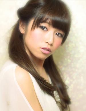 黒髪で小顔ゆるふわパーマヘアカタログ~顔型別アレンジ050