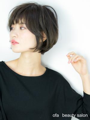 ☆Ofa☆ 軟毛でもボリューム感を出せるボブ[金町 美容院]