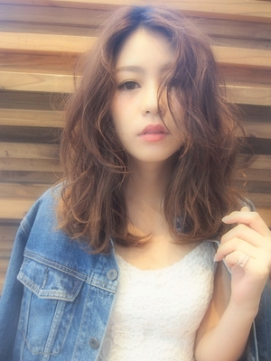 Sexy girly medium(くせ毛風×彼女ヘア)