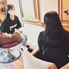 親子メニュー☆ カラー+大人カット+トリートメント+ヘッドスパ10分+小学生以下カット+お土産付