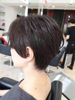 【D'cielオナギ】襟足スッキリ大人ショートヘア