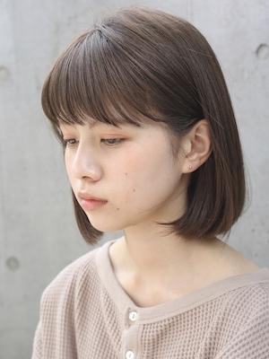 【ANDREY risa】シアーベージュボブ
