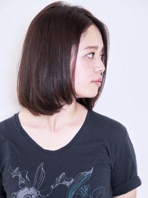 センターパート×暗髪×ワンカールロブ♪