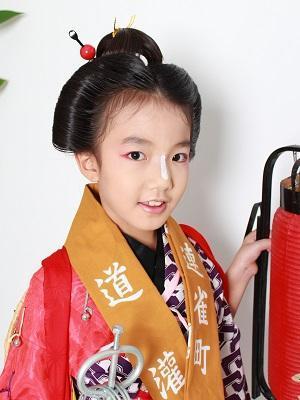 川越祭りの伝統的手古舞ヘア