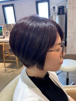 秋髪◎クールなダークヴァイオレットブラウン