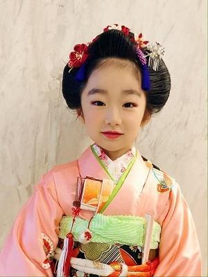 七五三日本髪ーふっくら可愛い舞子風ー