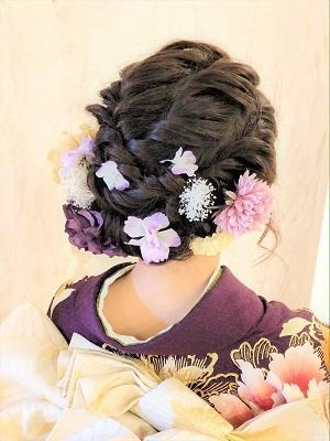【成人式・卒業式】可愛いゆるふわまとめ髪