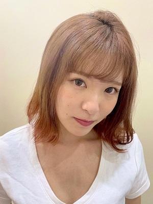 【アクティブ女子おすすめ】ボブ×アプリコットオレンジ裾カラー