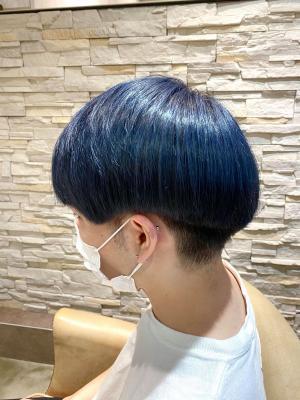 【ネイビーブルー×マッシュ】で個性的なオシャレスタイル☆