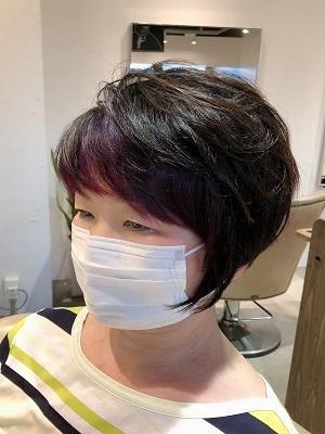 ショートヘアのお洒落なインナーカラー
