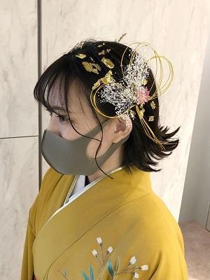 【外ハネショートボブの袴ヘアアレンジ♪】