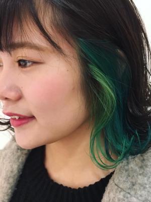 アイスミントグリーン × ブルー