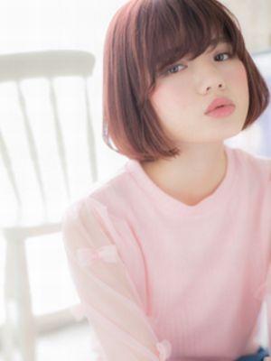 髪色にポイント☆シンプルボブa