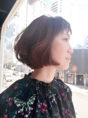 【WORKS】大人可愛い☆とろみバレイヤージュグラボブ