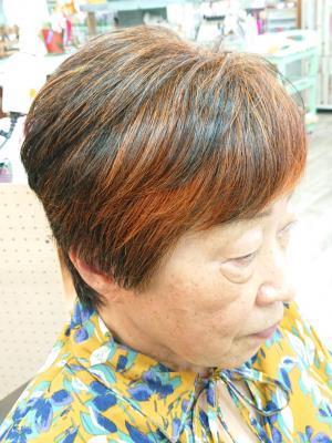 ショートスタイル(100%ヘナ染め髪)