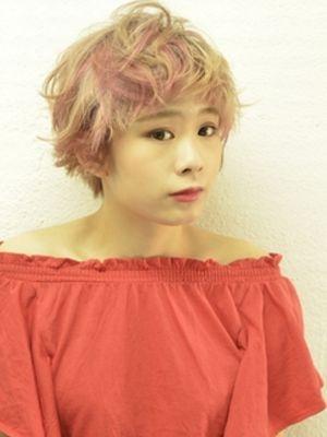 ☆ポイントピンクのプラチナカラー☆【coii】