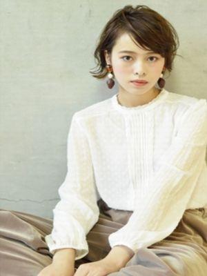 ☆外国人風オリーブグレージュマッシュショート☆【coii】