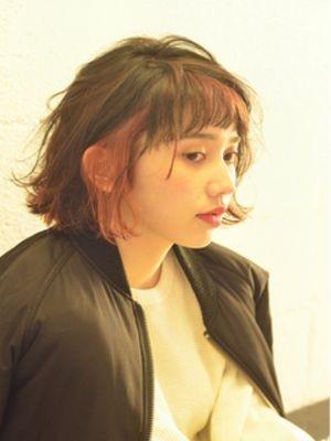 ☆ブラッドオレンジのインナーカラーボブ☆【coii】