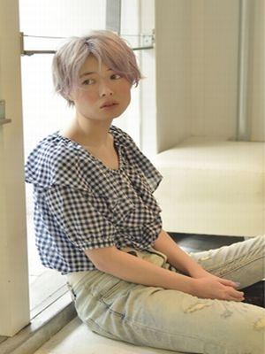 ☆ハイトーングレージュの媚びないエッジーショート☆【coii