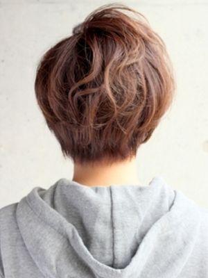作りこまない自然な感じがいい☆くせ毛風ナチュラルショートヘア
