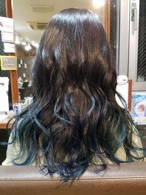 グラデーション☆コバルトブルー&ディープグリーン