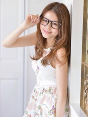 かきあげバング☆大人かわいいおフェロング☆お洒落メガネ☆