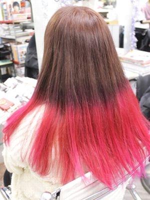 グラデーションカラー ピンク&ピンクベージュ