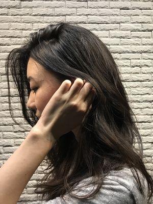 耳かけ大人ロング 【武蔵小杉美容院memo】