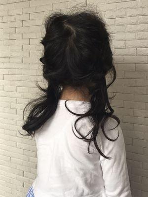キッズ編み込み風アレンジ 武蔵小杉美容院memo