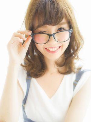 外はねミディアムスタイル by NARUOKA