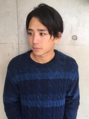 2ブロ黒髪メンズショート【横浜美容院ラムデリカYUKA】