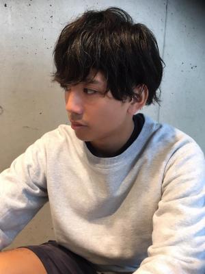 2ブロック黒髪マッシュ【横浜美容院ラムデリカYUKA】