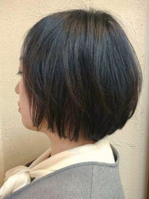 ショートボブ×黒髪
